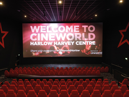 CINEWORLD, THE HARVEY SHOPPING CENTRE, HARLOW